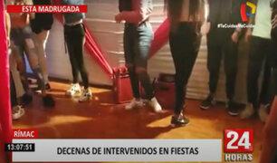 Rímac: operativo interviene cuatro fiestas clandestinas donde había menores de edad