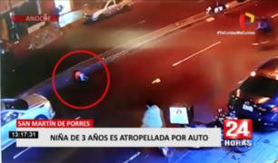 San Martín de Porres: niña de tres años es atropellada por auto