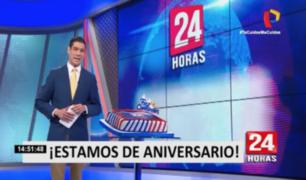 """Aniversario de """"24 Horas Mediodía"""": veintiún años informando a las familias peruanas"""