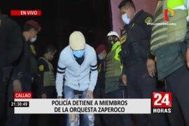 Callao: PNP interviene a miembros de la Orquesta Zaperoko en fiesta Covid-19