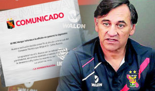 Carlos Bustos dejó de ser técnico del Melgar FBC