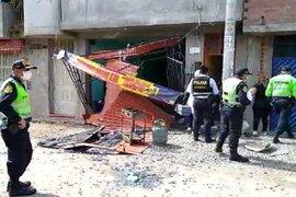 Huancayo: una pareja y su bebé resultan heridos tras explosión de balón de gas