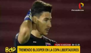 Copa Libertadores: el 'blooper' de Gonzalo Marinelli que se convirtió en la postal de la semana