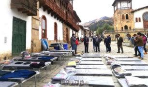 Áncash: entregan ayuda humanitaria a comunidades afectadas por heladas