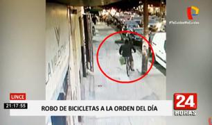 Lince: robo de bicicletas a la orden del día