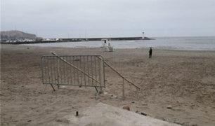 Covid-19: enrejan playas de Barranco y Chorrillos para evitar ingreso masivo de público