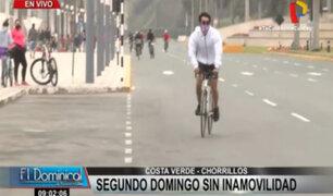 Chorrillos: Costa Verde llena de ciclistas en el segundo domingo de inamovilidad