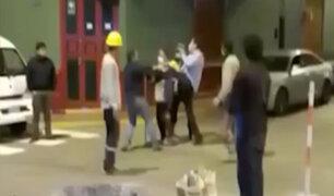 Barranco: vecino y representante de obra se lían a golpes por mejoramiento de calle