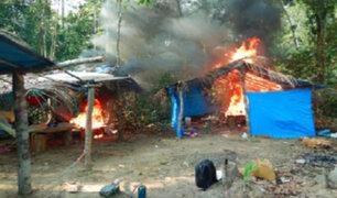 FFAA y PNP destruyen 45 campamentos de mineros ilegales en Madre de Dios