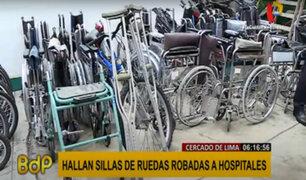 Cercado: detienen a sujeto que robó 25 sillas de ruedas que pertenecerían al Hospital Loayza