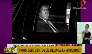 Trump apenas paga impuestos y tiene deudas millonarias, según diario New York Times