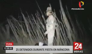 Policía detiene a más de 25 jóvenes que realizaban fiesta COVID-19 en Máncora