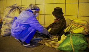 Municipio de Lima realiza operativo para rescatar a personas que viven en la calle