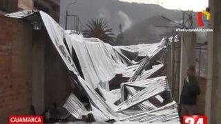 Cajamarca: Ciudadanos afectados piden ayuda tras torrencial lluvia acompañada de granizo