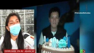 Derrumbe en Av Abancay: Hija del obrero que murió sepultado denuncia chantajes y amenazas de muerte