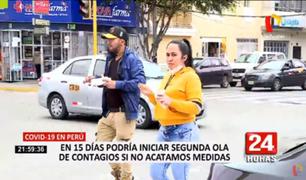 Covid-19 en Perú: advierten que en 15 días podría iniciar segunda ola de contagios si no se cumplen las medidas