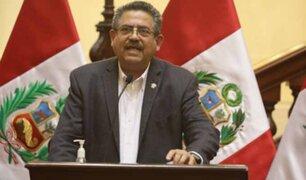 Congreso: piden se rechace pensión vitalicia para Manuel Merino