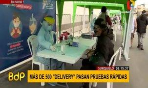 Surquillo: más de 500 repartidores de delivery se sometieron a pruebas rápidas