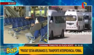 Plaza Norte: transporte interprovincial formal agoniza ante proliferación de ilegales
