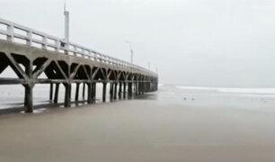Alarma en la localidad de Cerro Azul luego que el mar se retirara 200 metros