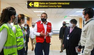 Vuelos internacionales: titular del MTC supervisó medidas sanitarias en aeropuerto Jorge Chávez
