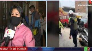 Un hombre resultó herido en operativo policial en San Martín de Porres