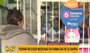 Farmacia vecina: más de 200 mil asegurados se benefician con programa de Essalud