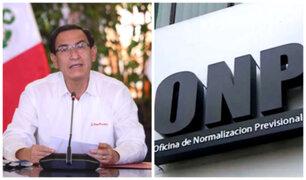 """Vizcarra sobre ley de ONP: """"Ha sido observada porque creemos que hay una mejor solución"""""""