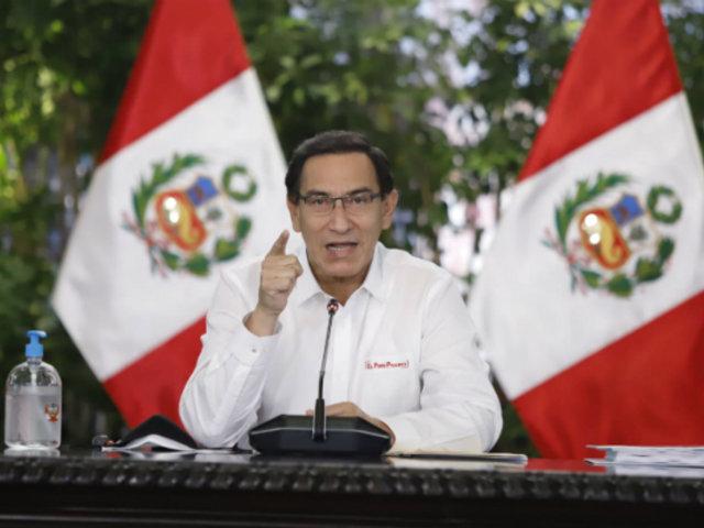 """Presidente Vizcarra anuncia campaña """"El virus no mata solo, no seamos cómplices"""""""