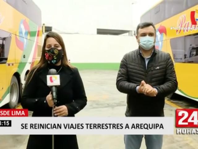 Reinician viajes terrestres desde Lima a Arequipa