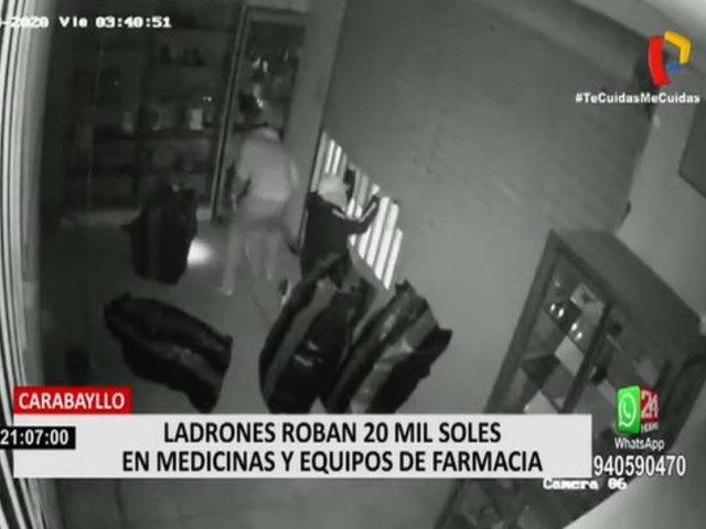 Carabayllo: Ladrones roban en farmacia y se llevan medicamentos y equipos de cómputo