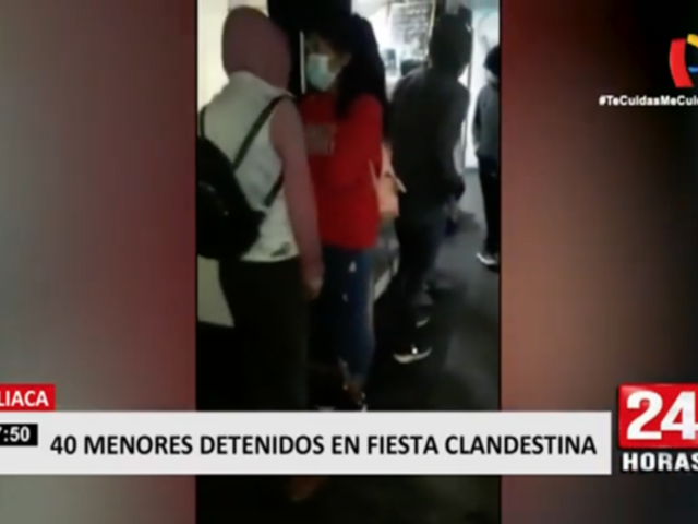 Juliaca: cerca de 40 menores son intervenidos en fiesta clandestina