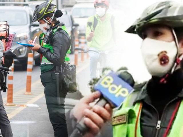 Así opera el Escuadrón Femenino PNP que vigila las ciclovías