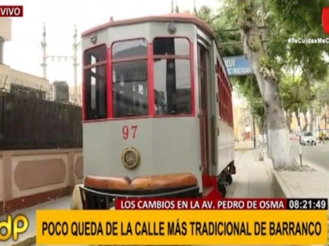Barranco: vecinos protestan por llenado de rieles de emblemático tranvía en Av. Pedro de Osma