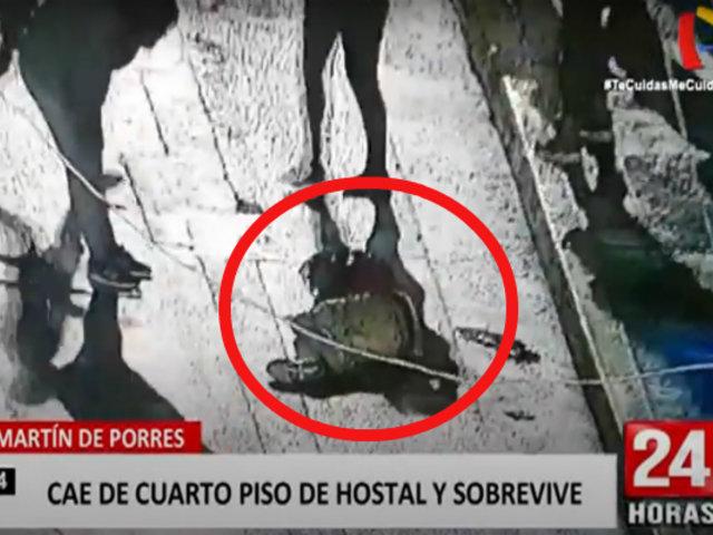 SMP: clausuran hostal luego que extranjero cayera desde el cuarto piso