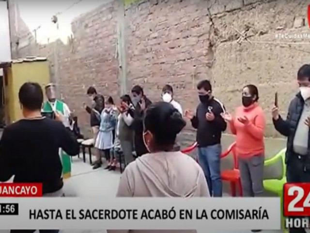 Huancayo: sacerdote y 20 personas fueron intervenidos por participar en misa