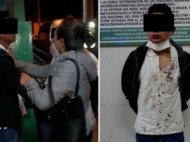Huancayo: sujeto que agredió y escupió a policías dio  positivo a Covid-19