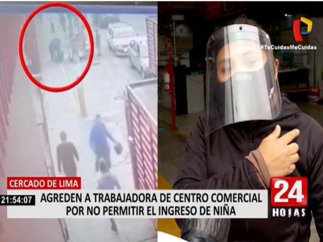 Cercado de Lima: agreden a trabajadora por no permitir el ingreso de una niña