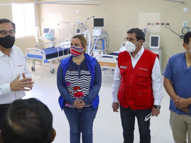 Vizcarra inspeccionó instalaciones de Hospital de Contingencia de Moquegua