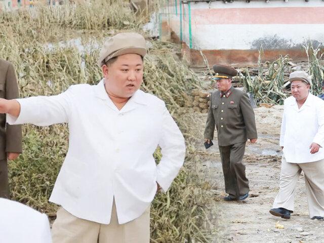 Reapareció Kim Jong-un inspeccionando daños por el tifón Maysak