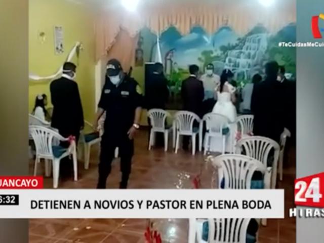 Huancayo: policía interviene boda que se celebraba pese a prohibición