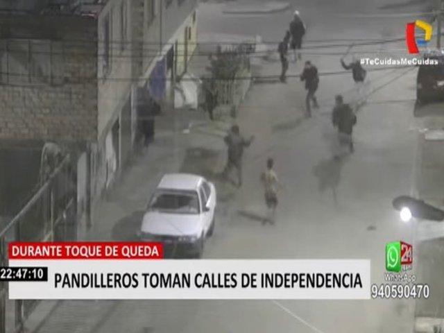 Independencia: Grupos de pandilleros toman calles en pleno toque de queda