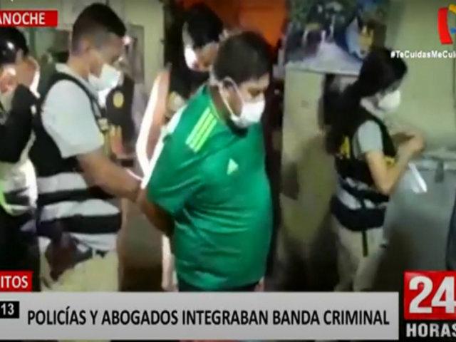 Iquitos: megaoperativo detiene a 23 miembros de banda de extorsionadores