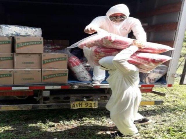 San Martín: comunidades indígenas recibieron más de 35 toneladas de alimentos