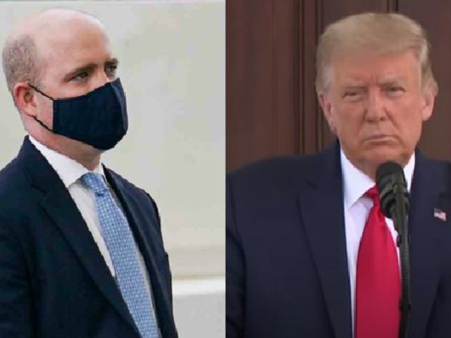 EEUU: Donald Trump intentó que un reportero se quite la mascarilla en plena rueda de prensa