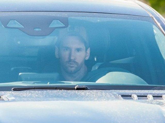 Así fue la llegada de Messi a los entrenamientos del Barcelona