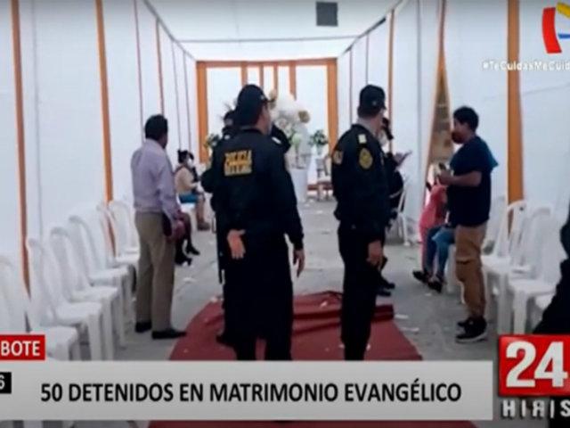 Chimbote: intervienen a más de 50 personas en un matrimonio evangélico