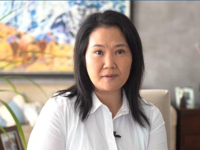 """Keiko Fujimori sobre suspensión de FP: """"Que la decisión final la tomen los electores"""""""
