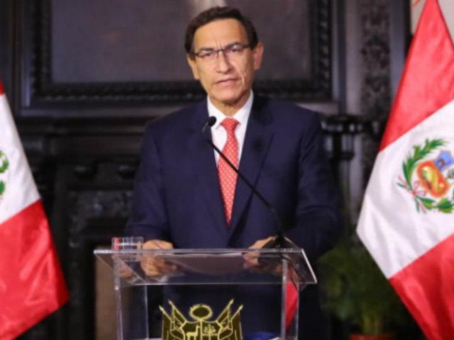 """Presidente Vizcarra sobre audios del caso Swing: """"Fueron coordinaciones internas"""""""