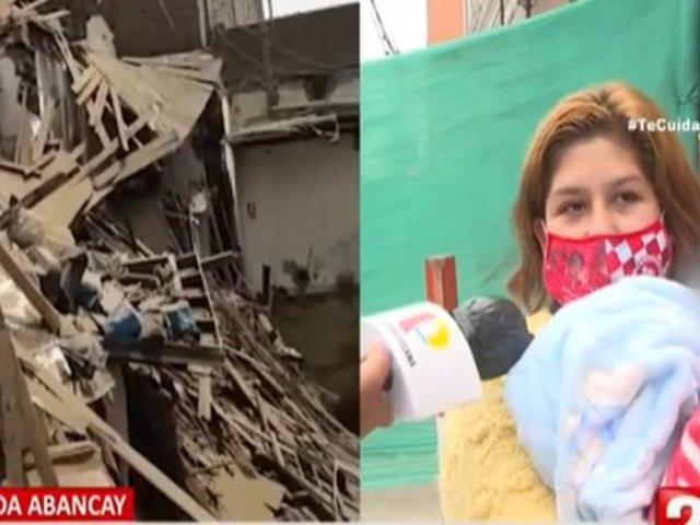 Centro de Lima: Familia pierde su negocio por derrumbe de antiguo solar en Av. Abancay